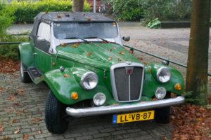 De groene auto