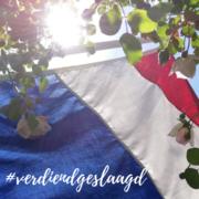 Nederlandse vlag wappert in de zon: Verdiend geslaagd!
